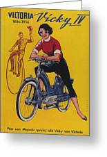 Victoria Vicky Iv - Motorcycle - Vintage Advertising Poster Greeting Card