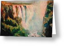 Victoria Waterfalls L B Greeting Card