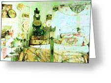 Victorian Bedroom Greeting Card by Florene Welebny