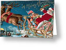 Victorian Christmas Card Greeting Card