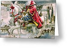 Victorian Christmas Card Depicting Saint Nicholas Greeting Card