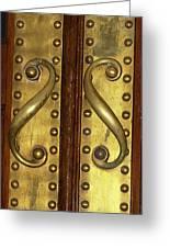 Victorian Door Pulls Greeting Card
