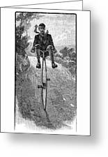 Victorian Gentleman On A Penny-farthing Greeting Card