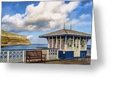 Victorian Pier In Llandudno Greeting Card