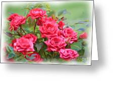 Victorian Rose Garden - Digital Painting Greeting Card