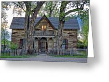 Victorian Sedman House In Montana State Greeting Card