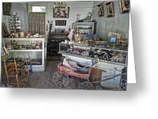 Victorian Toy Shop - Virginia City Montana Greeting Card by Daniel Hagerman