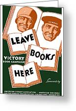 Victory Book Campaign - Wpa Greeting Card