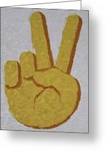 #victory Hand Emoji Greeting Card