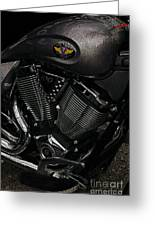 Victory Motorcycle Greeting Card by Diane E Berry