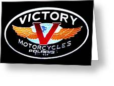Victory Motorcycles Emblem Greeting Card