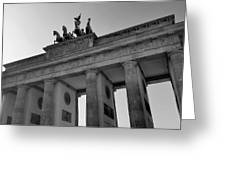 Victory Of Brandenburg Gate Greeting Card