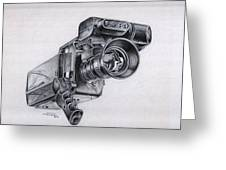 Video Camera, Vintage Greeting Card