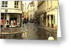 Vienna Corner After The Rain Greeting Card