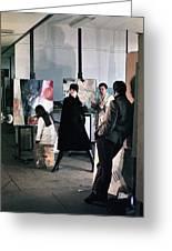 Vienna Fashion Shoot 1968 Greeting Card