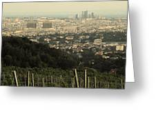 Vienna From The Vineyard Greeting Card