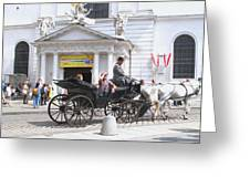 Vienna Horse And Carriage Greeting Card