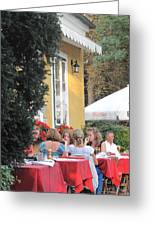 Vienna Restaurant In The Park Greeting Card