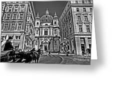 Vienna Scene Greeting Card by Madeline Ellis