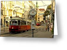 Vienna Streetcar Greeting Card