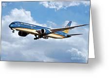 Vietnam Airlines Boeing 787 Dreamliner Greeting Card