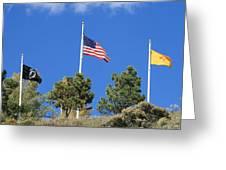 Vietnam Memorial Angel Fire New Mexico Greeting Card