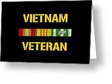 Vietnam Veteran Ribbon Bar  Greeting Card