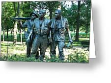 Vietnam War Memorial Statue Greeting Card