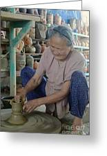Vietnamese Potter Greeting Card