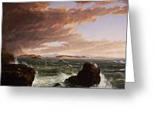 View Across Frenchman's Bay From Mt. Desert Island After A Squall Greeting Card by Thomas Cole