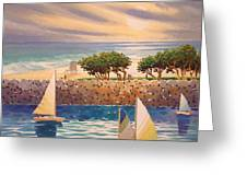 View Across The Channel Greeting Card