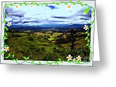 View And Inca/canari Ruins On Cojitambo II Greeting Card