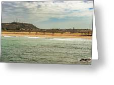 View At La Loberia Beach In Salinas, Ecuador  Greeting Card