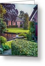 View At Old Church  In Dutch Village Greeting Card