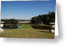 View Down To The Ashley River At Middleton Place Plantation Charleston Greeting Card