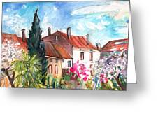 View From The Trefle Window In Albi Greeting Card