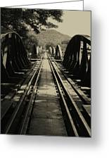 View From A Bridge - River Kwai Greeting Card by Kelly Jones
