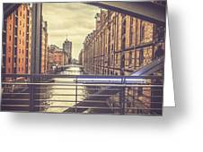 View From A Bridge Greeting Card