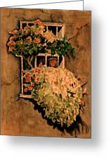 View From A Roman Window Greeting Card