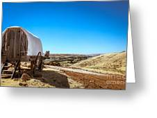 View From A Sheep Herder Wagon Greeting Card