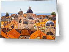 View From Above Of Dubrovnik Greeting Card