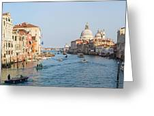 View From Accademia Bridge Greeting Card