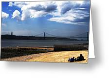View From Across The Tagus Greeting Card