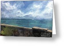 View From Bermuda Naval Fort Greeting Card