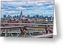 View From Brooklyn Bridge Greeting Card