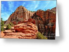View From Canyon Overlook In Zion National Park Greeting Card