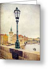 View From Charles Bridge Greeting Card