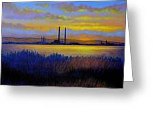 View From Clontarf - Dublin Greeting Card
