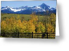 View From Hwy 62, Ouray County, Co Greeting Card