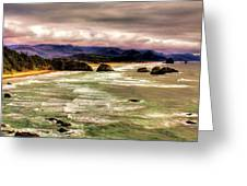 View From Ecola II Greeting Card